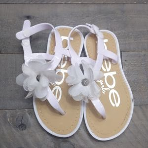Toddler sandals white with flower
